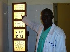 Cheikh Amadou SANE, TSO (Technicien Supérieur en Ophtalmologie) nouvellement affecté au Centre de Santé de Foundiougne
