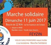 Marchons à Feyzin avec l'antenne Rhône Alpes le 11 juin 2017.