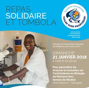 Repas Solidaire + AG de l'antenne Sud-Ouest le 21 janvier 2018 à Mérignac!