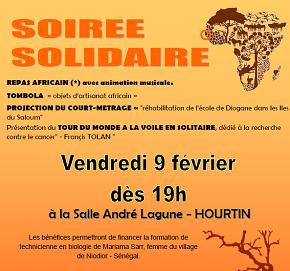 RDV à la soirée solidaire à Hourtin (antenne sud ouest) le 9 février !