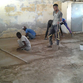 Maçons de Thialane -chantier ecole